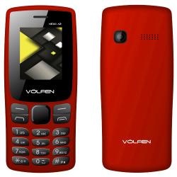 Telefono volfen a2 rojo pantalla 1.8pulgadas