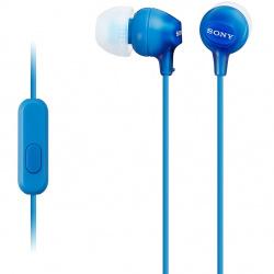 Auriculares sony mdr - ex15apb boton azul microfono
