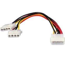 Duplicador cable alimentacion atx equip conector