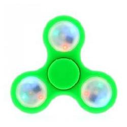 Fidget spinner con luz verde