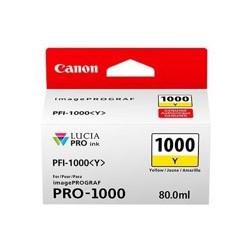 Cartucho tinta canon pfi - 1000y amarillo pro - 1000