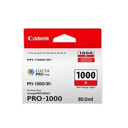 Cartucho tinta canon pfi - 1000r rojo pro - 1000