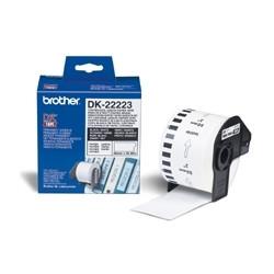 Etiquetas cinta continua brother blanca dk22223